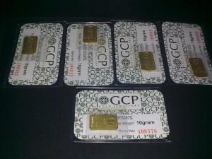 5 pcs gold bar GCP 10g emas 999